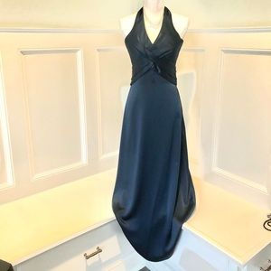 BCBG Maxazria Sz 0 Royal Blue Halter Gown